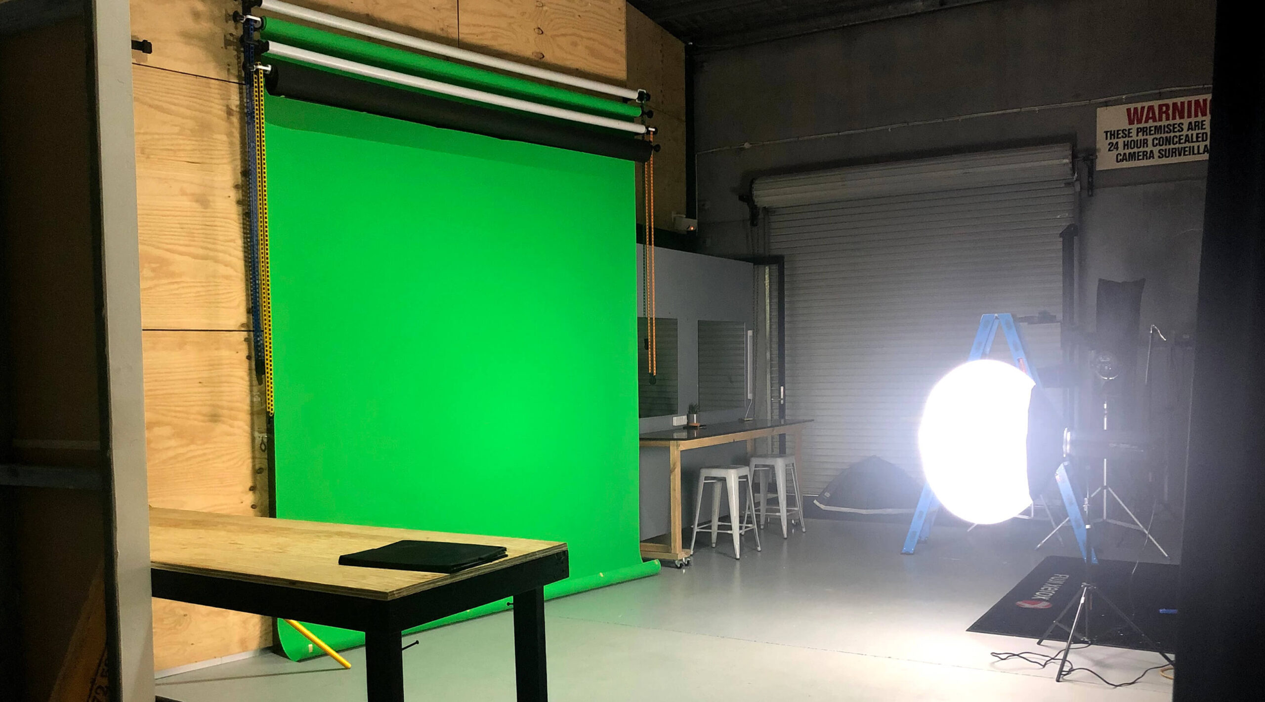 Garage Studios Photographic backdrop wall